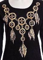Jack Flash Tees: Dream Catcher Necklace SS, Tank S-2XL