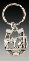 ZSold Praying Cowboy Collection: Horse Shoe Key Ring SOLD