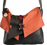 ZSold Bag Deerskin: Maverick Style Medium Two Color Combination Leather SOLD