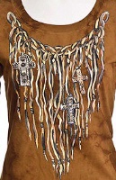 Jack Flash Tees: A SS or Tank, Leather Fringe S-XXL