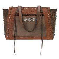 A American West Handbag Rio Grande Collection: Leather Zip Top Tote Antique Brown