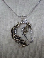 A Cowgirl Heart Jewelry: Horse Arabian Pendant on Silver Chain