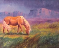 Artist Al Shelton: Angie's Horse, Limited Edition, Framed