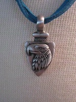 A SALE Spirit of the West Necklace: Eagle on Arrowhead SALE