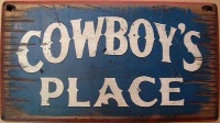 Wall Sign Home: Cowboys Place Small