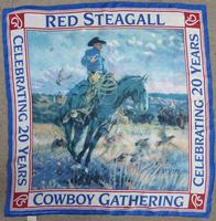 Rockmount Ranch Wear Accessory: Scarf Red Steagall Cowboy Gathering