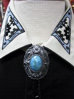 ZSold Rockmount Ranch Wear Accessory: Bolo Tie with Turquoise Color Stone SOLD