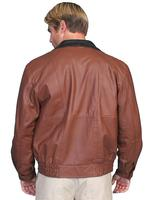 ZSold Scully Men's Leather Jacket: Casual Featherlite Wind Buffer Brown Big and Long SOLD