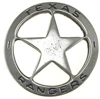 Colorado Silver Star Old West Badge: Texas Ranger Large