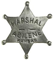 Colorado Silver Star Old West Badge; Marshal Abilene Kansas