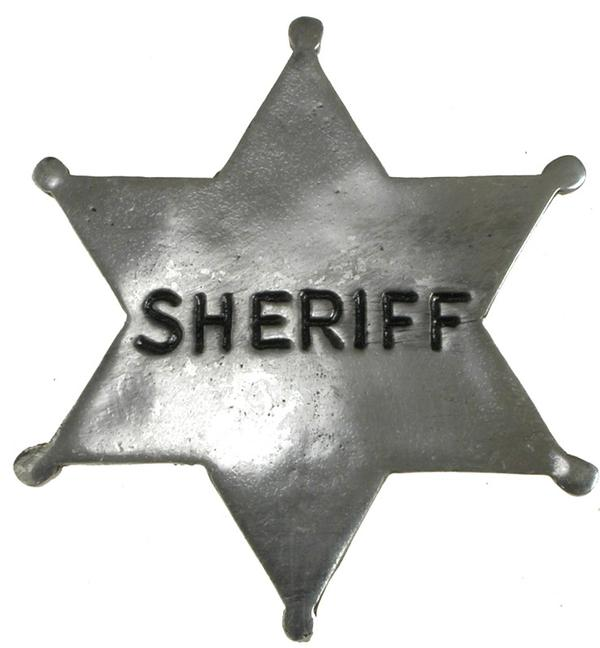 Colorado Silver Star Old West Badge: Sheriff