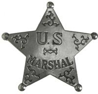 Colorado Silver Star Old West Badge: U.S. Marshal Star