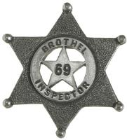 Colorado Silver Star Old West Badge: Brothel Inspector