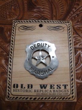Colorado Silver Star Old West Badge: Deputy U.S. Marshal Shield