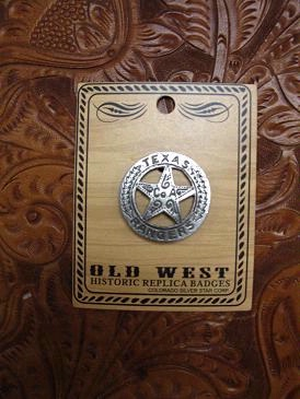Colorado Silver Star Old West Badge: Texas Rangers