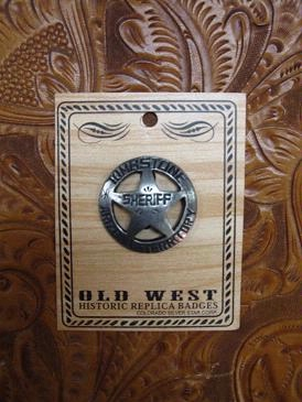 Colorado Silver Star Old West Badge: Tombstone Sheriff Back Ordered