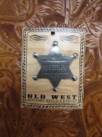 Colorado Silver Star Old West Badge: Sheriff Star