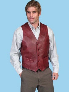 cherry point black single men Scully® men's leather single point western vest in black cherry hand finished lamb skin leather available in men's sizes 36-56 and 40l-56l.