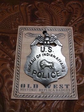 Colorado Silver Star Old West Badge: U.S. Bureau of Indian Affairs Police