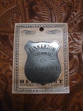 Colorado Silver Star Old West Badge: Pinkerton National Detective Agency