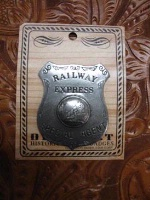 Colorado Silver Star Old West Badge: Railway Express Special Agent Back Ordered