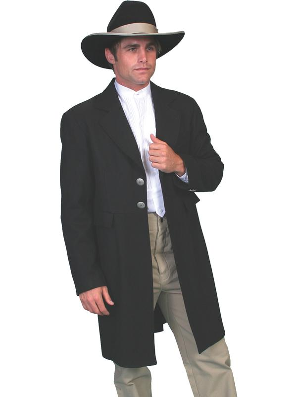 Scully Men's Old West Coat: Wahmaker Frock Coat with Engraved Buttons DEAL