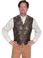 Scully Men's Old West Vest: Wahmaker Fancy Classic Dragon Gold Backordered
