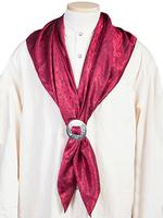 Scully Men's Accessory: Wahmaker Silk Jacquard Scarf Burgundy