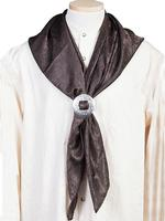 Scully Men's Accessory: Wahmaker Silk Jacquard Scarf Chocolate