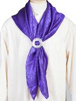 Scully Men's Accessory: Wahmaker Silk Jacquard Scarf Purple