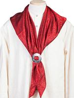 Scully Men's Accessory: Wahmaker Silk Jacquard Scarf Red