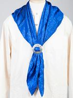 Sully Men's Accessory: Wahmaker Silk Jacquard Scarf Royal
