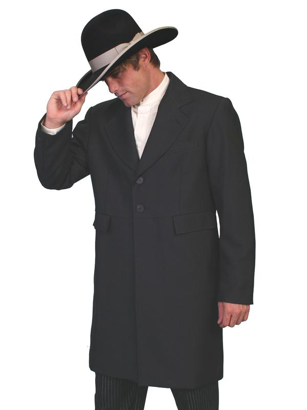 Scully Men's Old West Coat: Wahmaker Frock Coat  with Black Buttons