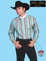 ZSold Scully Men's Old West Shirt: Wahmaker Cotton Full Button Front Mint M-2X SOLD