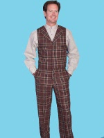 ZSold Scully Men's Old West Pant: Wahmaker Pant Plaid 30-42 SOLD