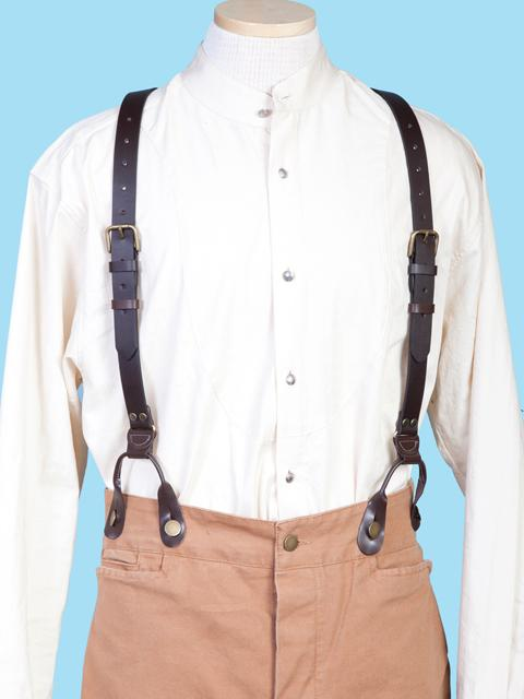 Scully Men's Accessory: Suspenders Wahmaker Leather Brown