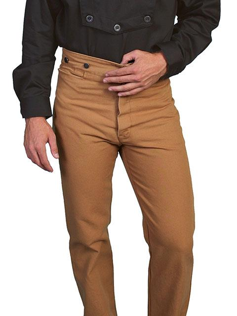 a949cd9b Scully Men's Old West Pant: Wahmaker Canvas Frontier Brown 26-43 ...
