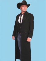 Scully Men's Old West Coat: Wahmaker Long Frock Coat 32-48 Big/Tall 50-56