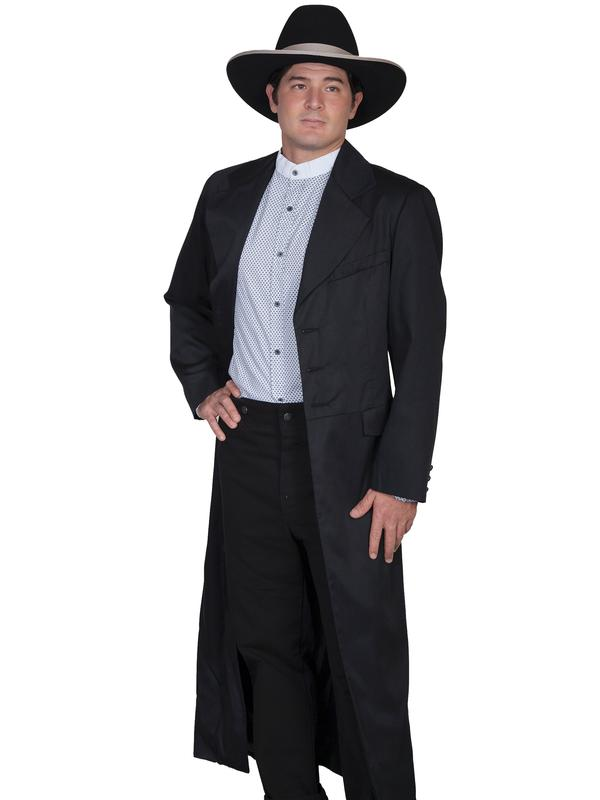 Scully Men's Old West Coat: Wahmaker Long Frock Coat Black
