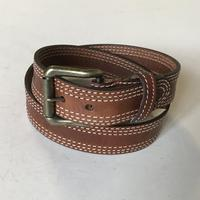 Rockmount Ranch Wear Accessory: Buckle w Belt Triple Stitch Tan