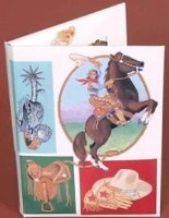ZSold Painted Hearts Note Card Set: Cowgirl Portfolio SOLD