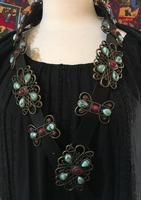 A Fashion Belt: Concho with Multi Stones