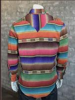 B Rockmount Ranch Wear Men's Western Shirt: Winter Fleece Stripe 2XL Backorder
