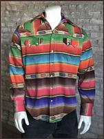 B Rockmount Ranch Wear Men's Western Shirt: Winter Fleece Stripe Backorder