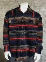 Rockmount Ranch Wear Men's Western Shirt: Winter Fleece Native American Inspired Serape  2X