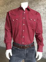 B Rockmount Ranch Wear Men's Western Shirt: A Buffalo Check Red Black Backorder
