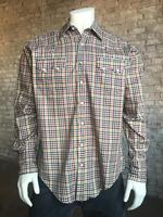 Rockmount Ranch Wear Men's Western Shirt: A Check Windowpane Yellow Green Black 2X