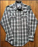 Rockmount Ranch Wear Men's Western Shirt: A Plaid Dobby Retro Grey 2XL and Talls
