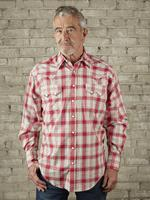 Rockmount Ranch Wear Men's Western Shirt: A Plaid Dobby Retro Red Tall-3XL Backordered