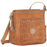 American West Handbag Harvest Moon Collection: All Access Crossbody Bag Golden Tan